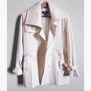 | Nordstrom | Cream Wool Peacoat